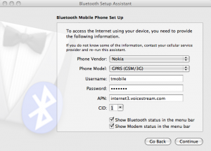Nokia Symbian Bluetooth settings
