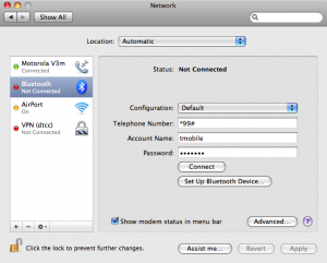 Nokia N95 settings for tethering