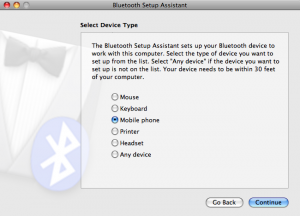 Bluetooth Assistant device type choices